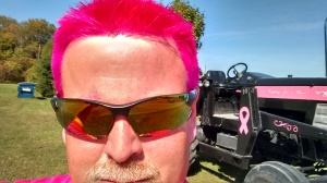 John Bowe goes pink for the cause