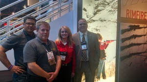 (L to R) John Bowe with Cathy Hale, Savage Arms and Ryan Bronson , Federal Ammunition