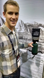 Ryan Neeley of Campchef with the new Styker Stove