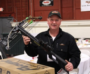 Jason Armer with his new Parker Bows Bushwacker Crossbow