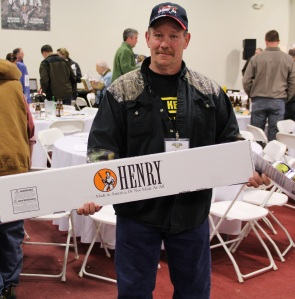 Gary Foutch took home the highly collectible Henry Military Tribute Rifle by Henry Repeating Arms with engraving by Baron Technology, 2015 NYS4-HSS Industry Artists of the