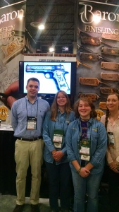 Richard Baron (L), Colleen Kimble (CL), Logan Kimble-Lee (CR) and Emily Baron (R) at the Baron Technology Booth.