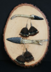Handmade Flint Knives by Master Flint Knapper, 2008 NYS4-HSS Artist of the Year, Bill Staulters