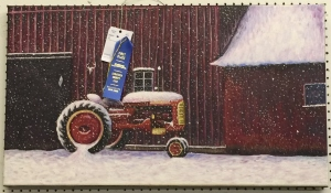 "Molly Pokrzywka's  ""Snowy Day on the Farm"" took First Place at the 2016 Saratoga County Fair"