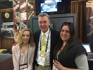Dave Baron, President (C) with daughter, Emily (L) and staff representative Kim (R)  of Baron Technology, Inc.