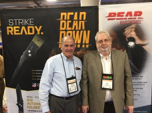 Wally Gardiner, Director of National Accounts (L) and Ken Griffey, President (R) of Bear & Son Cutlery, Inc.