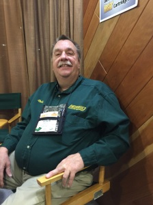 Long-time NYS4-HSS supporter Robin Sharpless, Executive VP from Redding Reloading Equipment of Cortland, NY takes a short break from his busy schedule at the 2017 SHOT Show